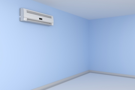 Room cooled with air conditioner photo