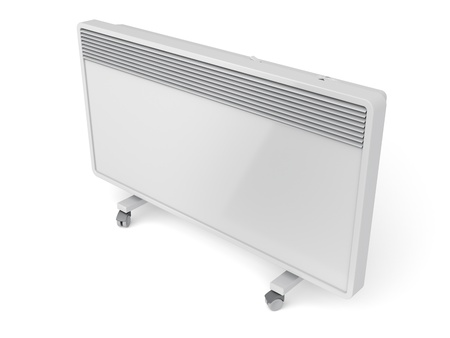 Mobile convection heater on white background photo