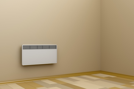 Room heated with convection heater photo
