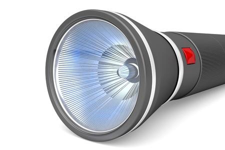 searchlight: Close-up image of LED flashlight Stock Photo
