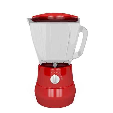 blender: Red electric blender on white background