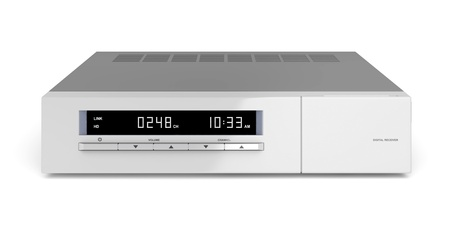 Digital receiver on white background photo
