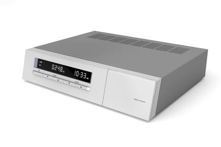 Digital satellite receiver on white background Stock Photo - 15886460