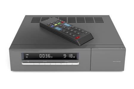 Digital receiver with remote control Stock Photo - 16016661