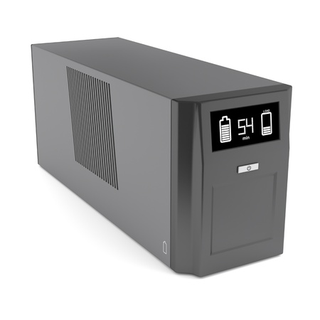 Uninterruptible power supply on white background Stock Photo