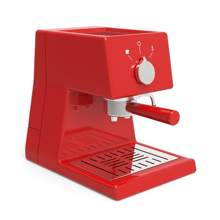 Espresso machine on white background Stock Photo
