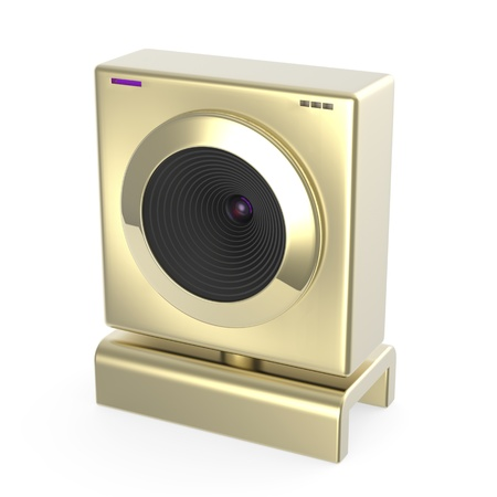 Luxury gold web camera on white background Stock Photo - 17087734