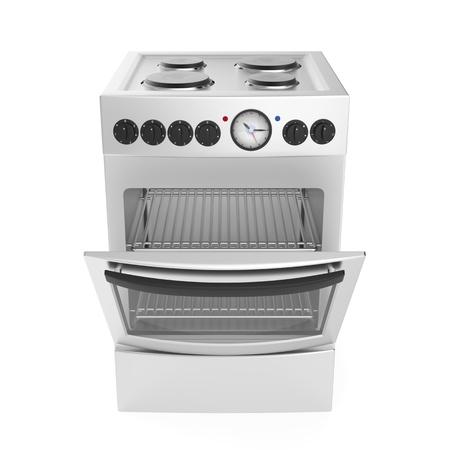 inox: Inox electric cooker on white background