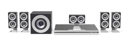 5.1 channel home cinema system Stock Photo