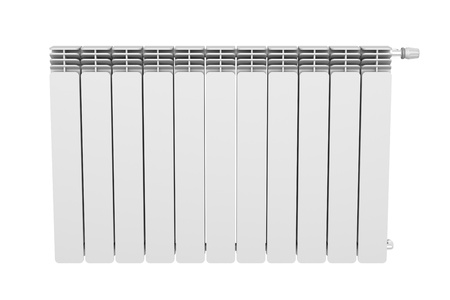 Front view of heating radiator photo