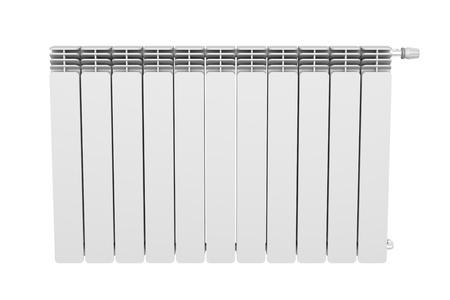 convection: Vista frontale del radiatore di riscaldamento