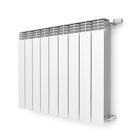 radiador: Radiadores de calefacción con termostato fijado en la pared