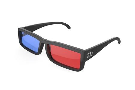 tinted glasses: 3d glasses on white background
