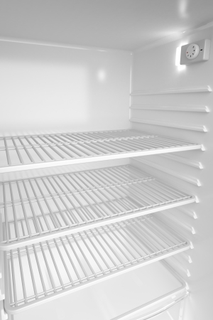 Empty white refrigerator, 3d rendered image photo