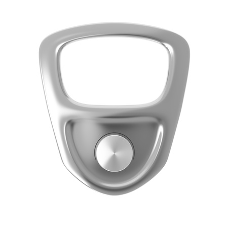 pulltab: Ring pull isolated on white background Stock Photo