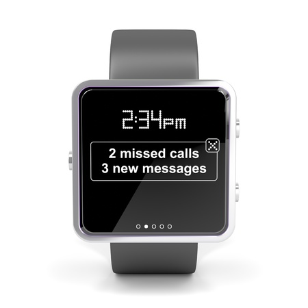 Front view of smart watch photo