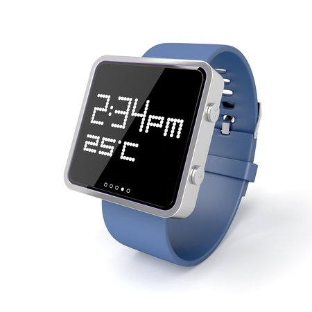 Smart watch on white background photo