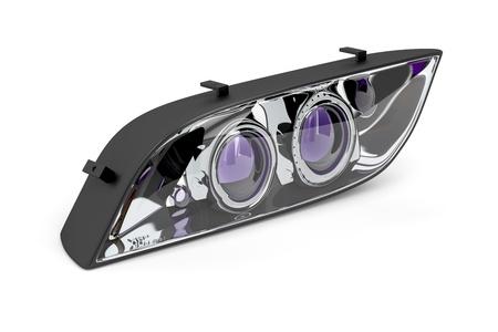 xenon: Xenon headlight on white background Stock Photo