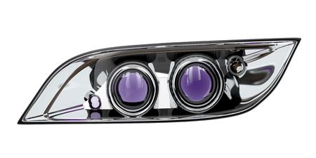 xenon: Car headlight isolated on white background