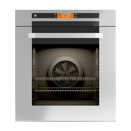Built-in oven isolated on white photo