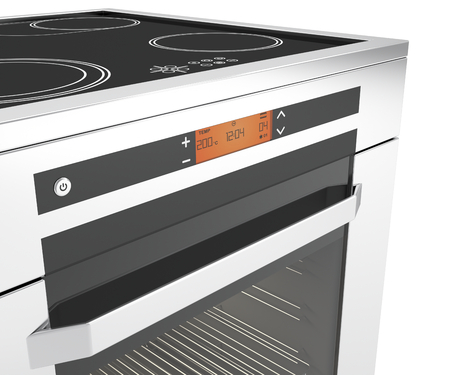 Details of front panel on electric cooker photo