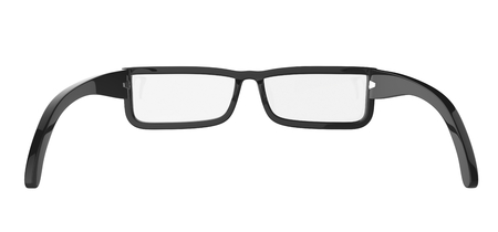 diopter: Eyeglasses isolated on white  Stock Photo
