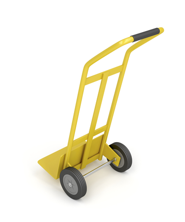 sack truck: Hand truck on white