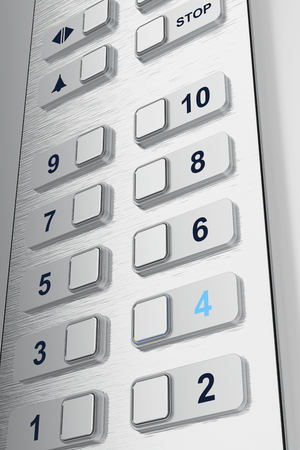Elevator buttons with selected floor photo