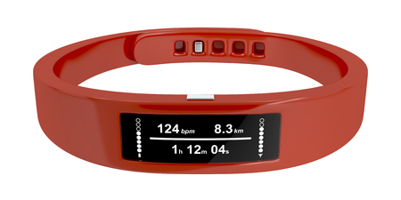 Fitness tracker isolated on white background