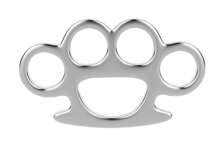 knuckles: Brass knuckles isolated on white background  Stock Photo