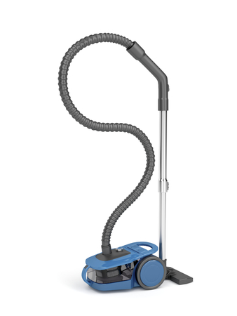 vac: Bagless vacuum cleaner on white background Stock Photo