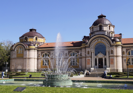 Sofia, Bulgaria - September 30, 2014: Central mineral baths in Sofia, Bulgaria