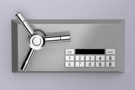 Bank kluis met digitaal slot