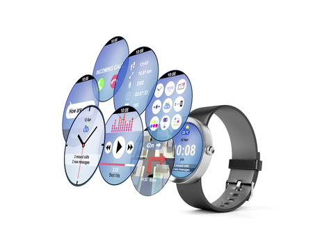 Smart watch with different interfaces and apps photo