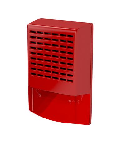 Fire alarm siren isolated on white photo