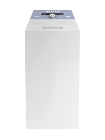 machine à laver: Top lave-linge chargement isolé sur fond blanc