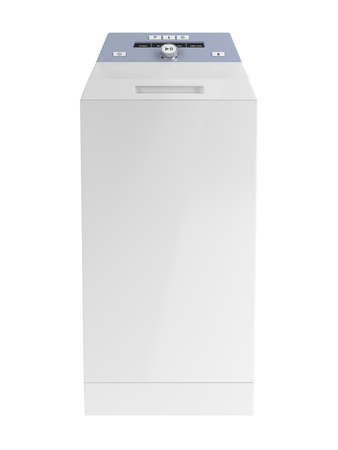 wash: Top loading washing machine isolated on white background