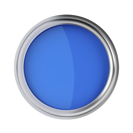 above: Blue paint isolated on a white background, top view