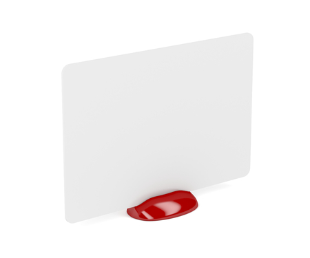 card holder: Plastic card holder with empty white card Stock Photo