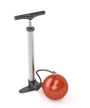 air pump: Air pump inflates soccer ball