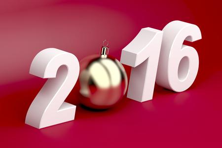event calendar: Happy new year 2016 card
