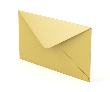 sobres de carta: sobre abierto en el fondo blanco