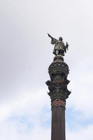 christopher: Christopher Columbus monument in Barcelona, Spain