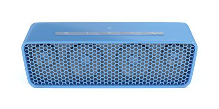 equipo de sonido: Altavoz Bluetooth portátil sobre fondo blanco