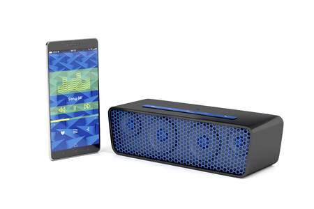 handsfree telephone: Playing music from smartphone on bluetooth speaker