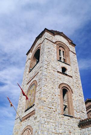 panteleimon: Tower of Saint Panteleimon (Plaosnik) church in Ohrid, Macedonia
