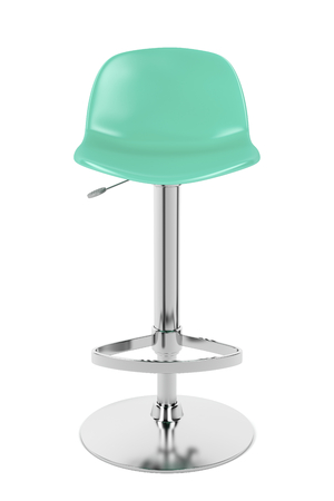 bar stool: Front view of bar stool isolated on white background