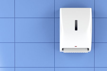 Automatic paper towel dispenser on the wall
