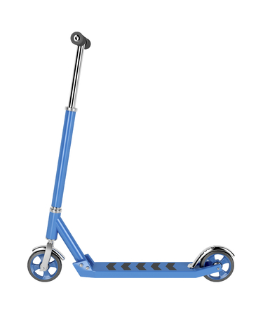 Side view of kick scooter, isolated on white background Stock Photo - 60636827
