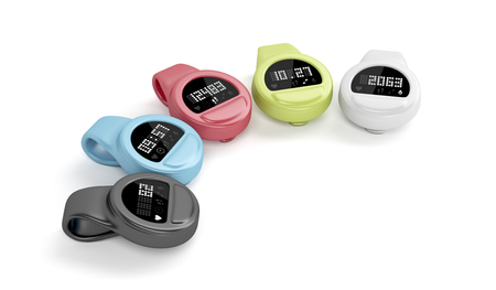bpm: Clip-on activity trackers with different interfaces and colors